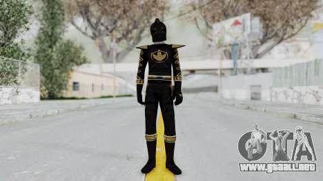 Power Rangers Dino Thunder - Black para GTA San Andreas segunda pantalla