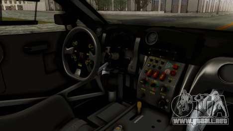Nissan GT-R Fake Taxi para visión interna GTA San Andreas