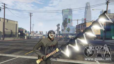 GTA 5 Amazing Spiderman - black suit octavo captura de pantalla