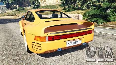 GTA 5 Porsche 959 1987 vista lateral izquierda trasera