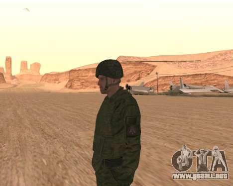 Motorizado privado rifle de tropas para GTA San Andreas quinta pantalla