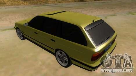 BMW M5 E34 Touring para GTA San Andreas vista posterior izquierda