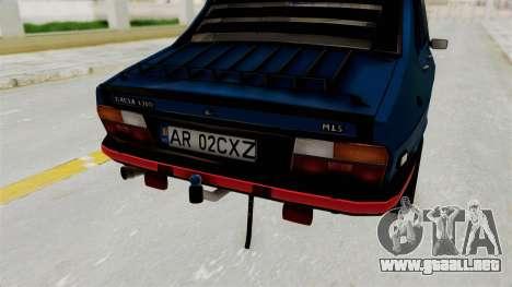 Dacia 1310 MLS Modell 1985 para GTA San Andreas vista hacia atrás