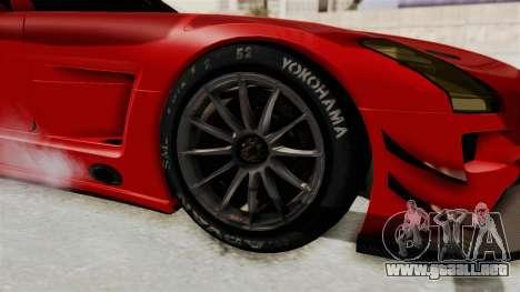Mercedes-Benz SLS AMG GT3 PJ2 para GTA San Andreas vista hacia atrás