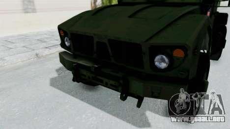 Croatian Oshkosh M-ATV Woodland para la vista superior GTA San Andreas