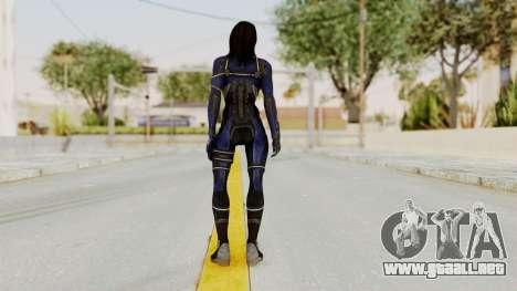 Mass Effect 3 Ashley Williams Ashes DLC Armor para GTA San Andreas tercera pantalla
