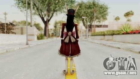 Alice LBL Madness Returns para GTA San Andreas tercera pantalla