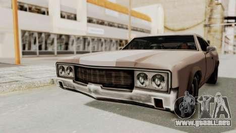 GTA Vice City - Sabre Turbo (Sprayable) para la visión correcta GTA San Andreas