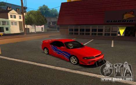 Nissan Skyline R33 Tunable para vista lateral GTA San Andreas