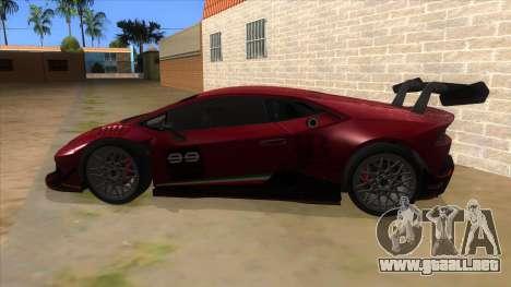 2015 Lamborghini Huracan LP610-4 Super Trofeo para GTA San Andreas left