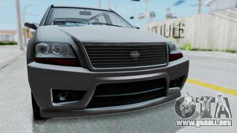 GTA 5 Benefactor Serrano IVF para GTA San Andreas vista hacia atrás