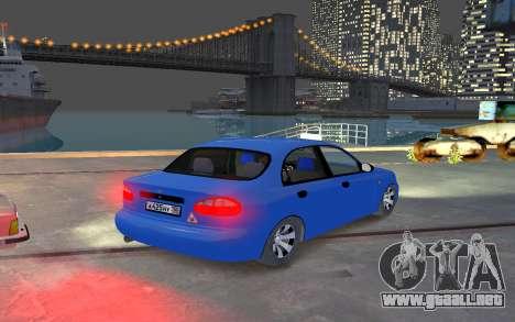 Daewoo Lanos Taxi para GTA 4 visión correcta