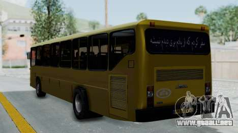 Mercedes-Benz Old Iranian Bus para GTA San Andreas left