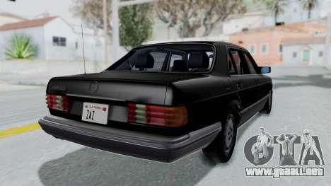 Mercedes-Benz 560SEL 1987 US-spec para GTA San Andreas left