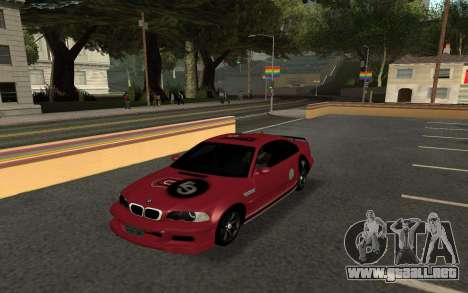 BMW M3 E46 Tunable para GTA San Andreas vista posterior izquierda