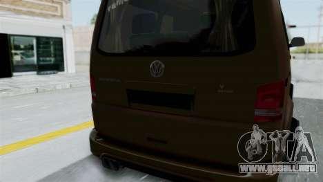 Volkswagen Transporter TDI Final para visión interna GTA San Andreas