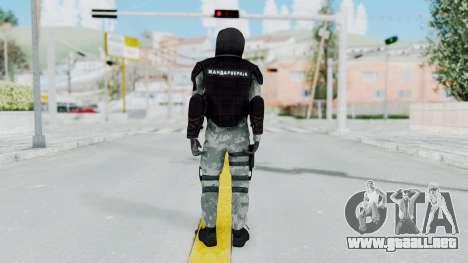 La Gendarmería, Que Antidisturbios De La Piel para GTA San Andreas tercera pantalla