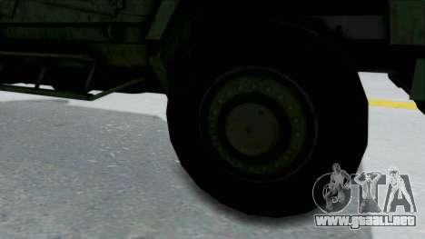 Croatian Oshkosh M-ATV Woodland para GTA San Andreas vista hacia atrás