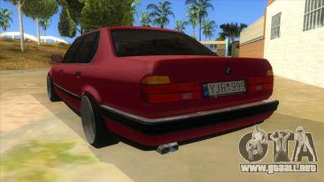 BMW E32 para GTA San Andreas vista posterior izquierda