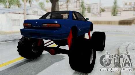 Nissan Silvia S13 Monster Truck para la visión correcta GTA San Andreas