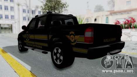 Chevrolet S10 Policia Caminera Paraguaya para GTA San Andreas left