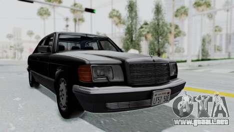 Mercedes-Benz 560SEL 1987 US-spec para GTA San Andreas