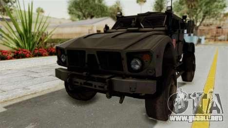 Croatian Oshkosh M-ATV Desert para la visión correcta GTA San Andreas