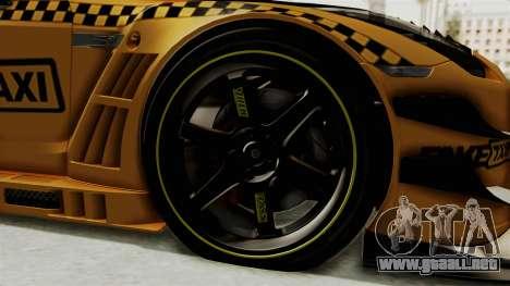 Nissan GT-R Fake Taxi para GTA San Andreas vista hacia atrás