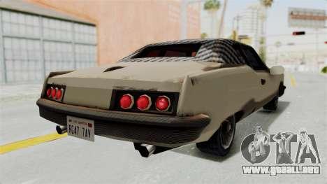 Lobo Custom para GTA San Andreas vista posterior izquierda