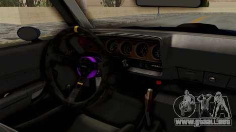 Plymouth Hemi Cuda 1971 Drag para GTA San Andreas vista hacia atrás