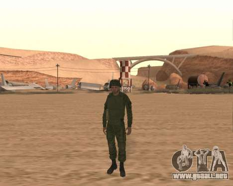 Motorizado privado rifle de tropas para GTA San Andreas tercera pantalla