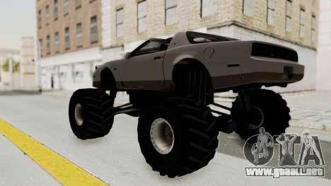 Pontiac Firebird Trans Am Monster Truck 1982 para GTA San Andreas left