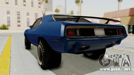 Plymouth Hemi Cuda 1971 Drag para GTA San Andreas left