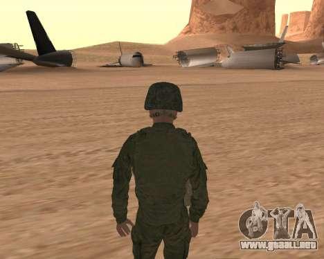 Motorizado privado rifle de tropas para GTA San Andreas sucesivamente de pantalla