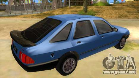 Ford Sierra 1.6 GL Updated para la visión correcta GTA San Andreas
