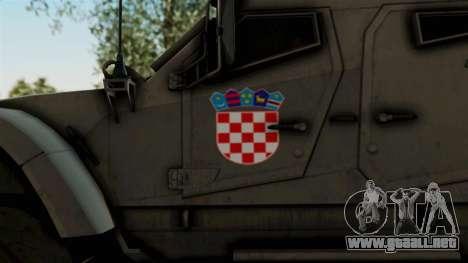 Croatian Oshkosh M-ATV Desert para GTA San Andreas vista hacia atrás