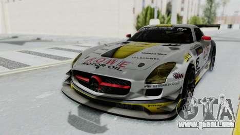 Mercedes-Benz SLS AMG GT3 PJ7 para GTA San Andreas vista hacia atrás