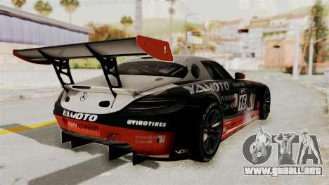 Mercedes-Benz SLS AMG GT3 PJ2 para el motor de GTA San Andreas