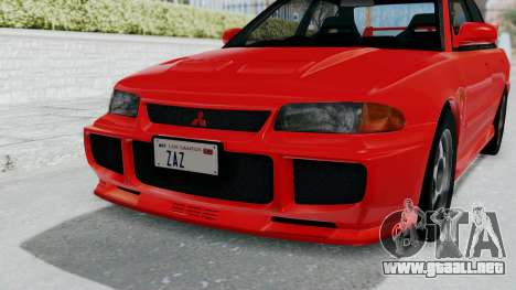 Mitsubishi Lancer Evolution III 1996 (CE9A) para vista lateral GTA San Andreas