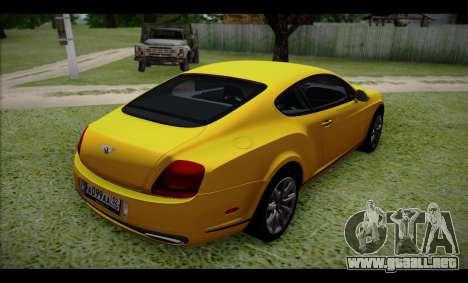Bentley Continental para GTA San Andreas left