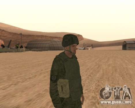 Motorizado privado rifle de tropas para GTA San Andreas segunda pantalla
