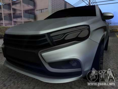 Lada Vesta HD (beta) para GTA San Andreas vista hacia atrás