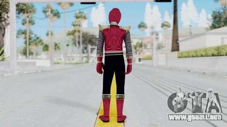 Power Rangers Ninja Storm - Crimson para GTA San Andreas tercera pantalla