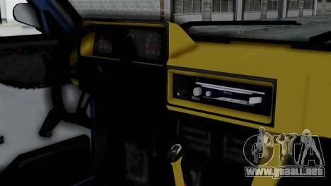 Tofas Sahin 1995 para GTA San Andreas vista hacia atrás