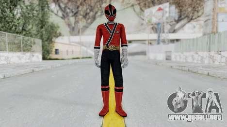 Power Rangers Samurai - Red para GTA San Andreas segunda pantalla