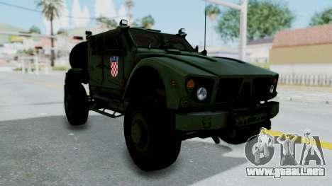 Croatian Oshkosh M-ATV Woodland para la visión correcta GTA San Andreas