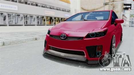 Toyota Prius 2011 Elegant Modification para GTA San Andreas vista posterior izquierda