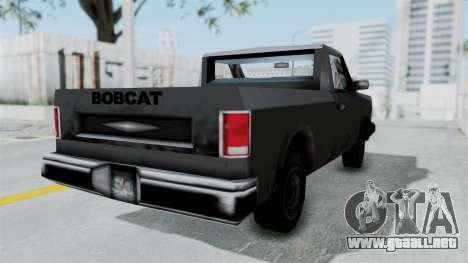 Beta VC Bobcat para GTA San Andreas vista posterior izquierda
