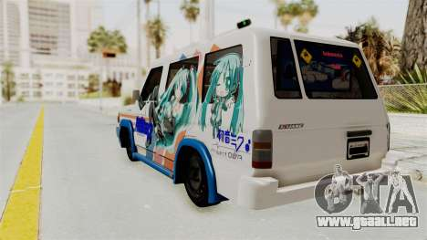 Toyota Kijang Miku Itasha Version para GTA San Andreas left