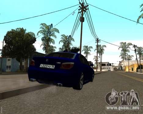 BMW M5 E60 v1.0 para visión interna GTA San Andreas